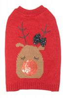 Putting on the glitz Reindeer Jumper